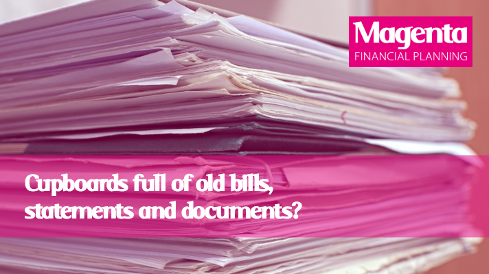 Cupboards full of old bills, statements and documents?