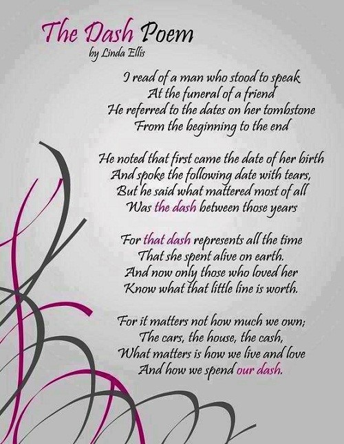 Poem your dash Live Your