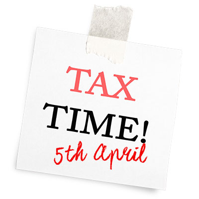 Beat the tax year end rush!