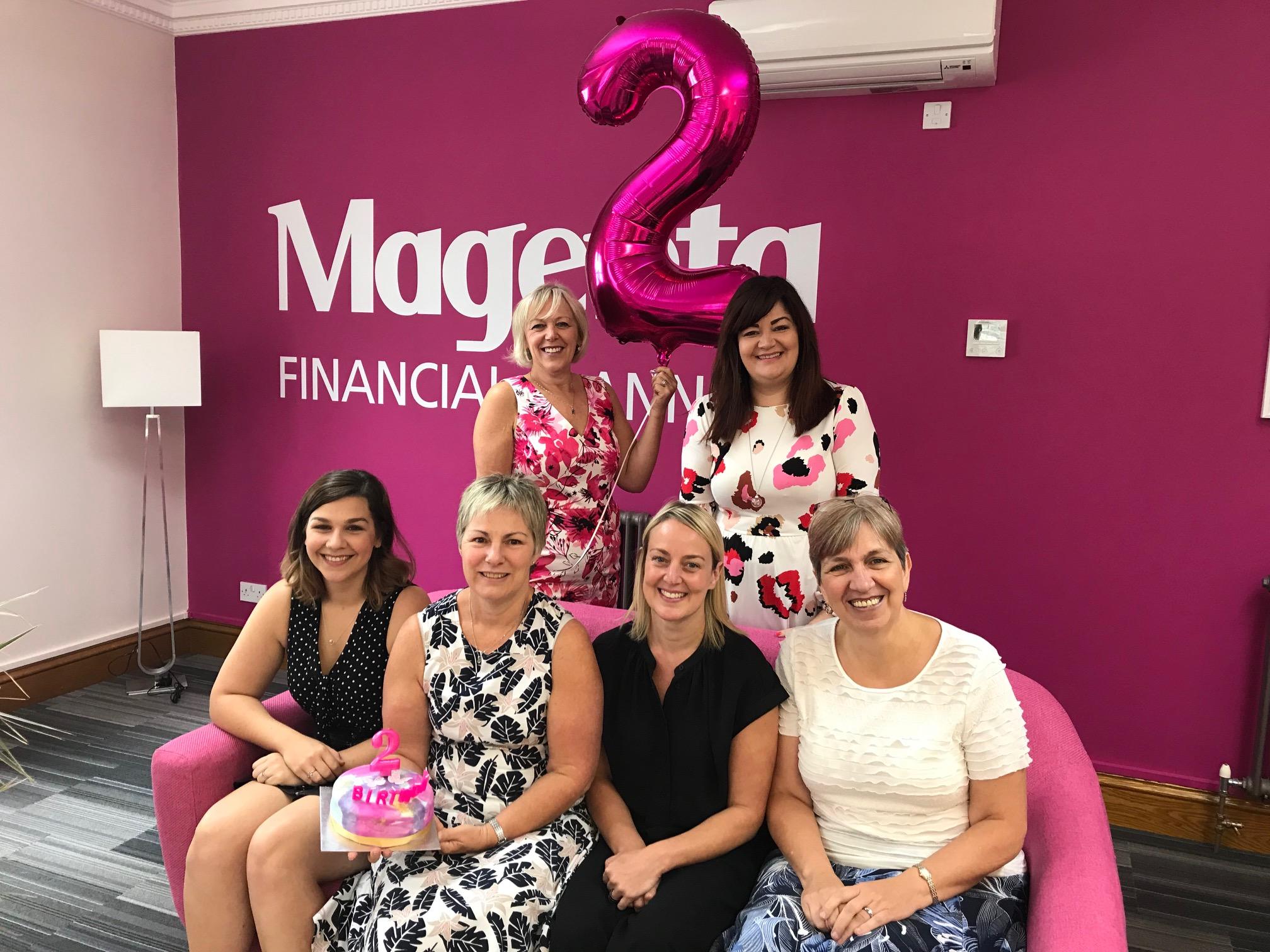 Magenta's Birthday, Magenta Financial Planning, Bridgend, South Wales, financial advice