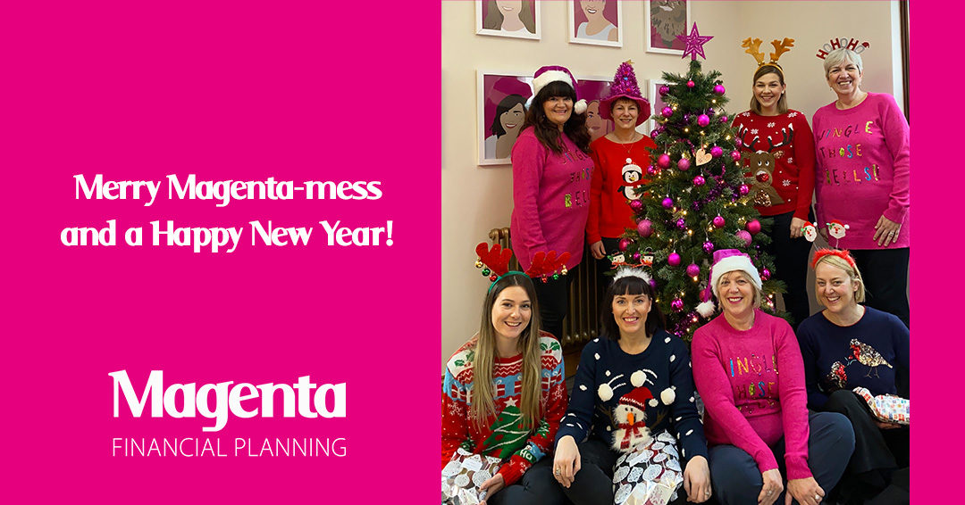 Merry Magenta-mess and a Happy New Year!