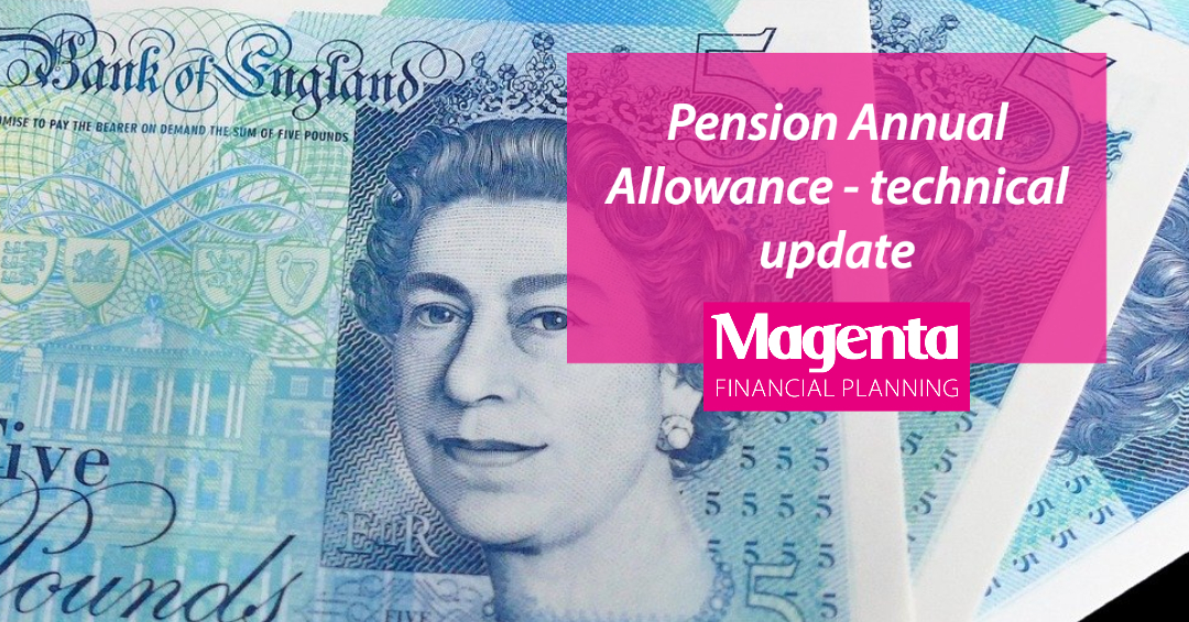 Pension Annual Allowance – technical update